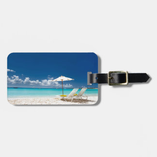 Lounges on the beach bag tag