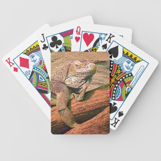 Loungin' Lizard Bicycle Playing Cards