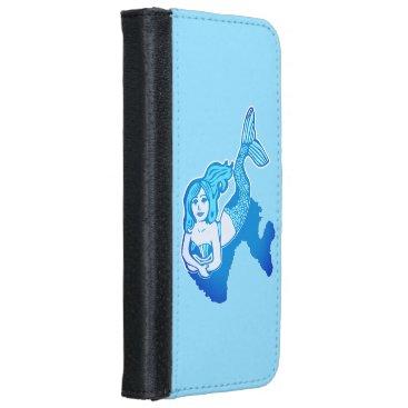 Lounging Blue Mermaid Phone Wallet Case