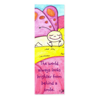 Lounging Butterfly Smile Bookmark Mini Business Card