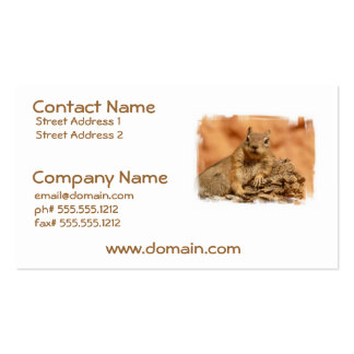 Lounging Chipmunk Business Cards