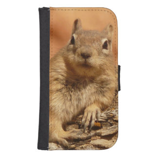 Lounging Chipmunk Galaxy S4 Wallets