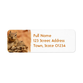 Lounging Chipmunk Mailing Labels