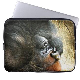 Lounging Gorilla Laptop Sleeve