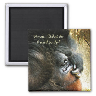Lounging Gorilla To Do Magnet