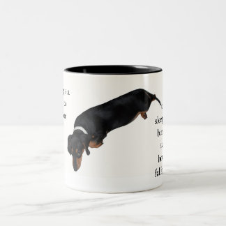 Lounging Hound Classic Two Tone Quote Mug