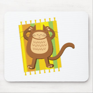 Lounging lazee kitty cat mouse pad