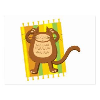 Lounging lazee kitty cat postcard
