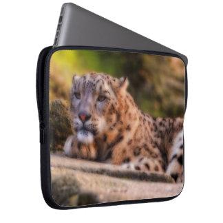 Lounging Leopard Laptop Sleeve