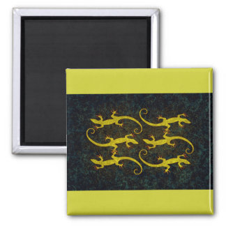 LOUNGING LIZARDS 2 INCH SQUARE MAGNET
