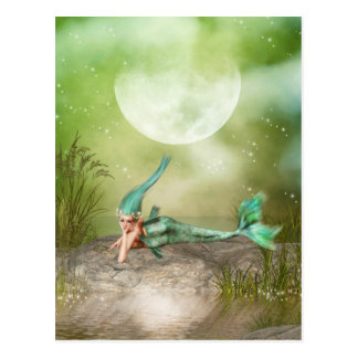 Lounging Mermaid Postcard