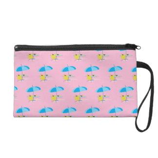 Lounging pink wristlet purse