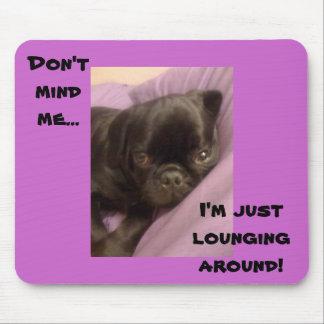 lounging pug mouse pad