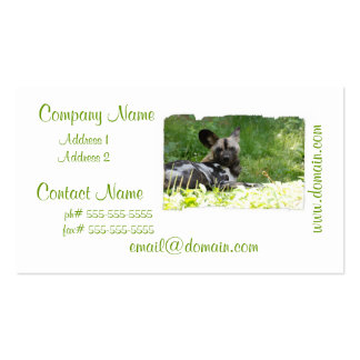 Lounging Wild Dog Business Cards