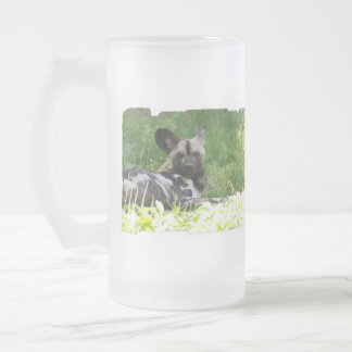 Lounging Wild Dog Frosted Beer Mug