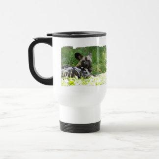 Lounging Wild Dog Plastic Travel Mug