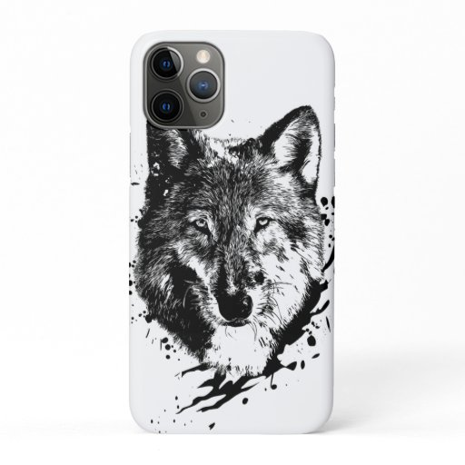Loup Animal Forêt Sauvage Nature Monde Terre Libre iPhone 11 Pro Case