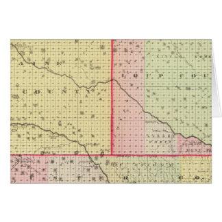 Loup, Blaine, Custer, and Logan County, Nebraska Card