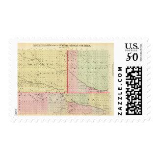 Loup, Blaine, Custer, and Logan County, Nebraska Postage