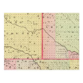 Loup, Blaine, Custer, and Logan County, Nebraska Postcard