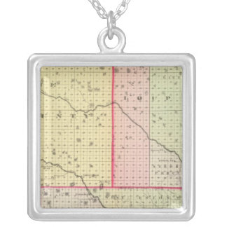 Loup, Blaine, Custer, and Logan County, Nebraska Silver Plated Necklace
