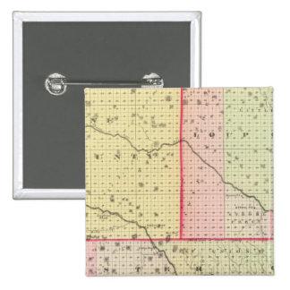 Loup, Blaine, Custer, y el condado de Logan, Nebra Pin Cuadrado