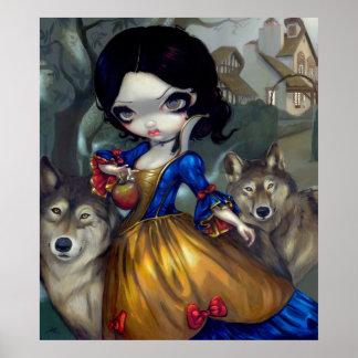 Loup-Garou Blanche Neige ART PRINT Snow White Wolf