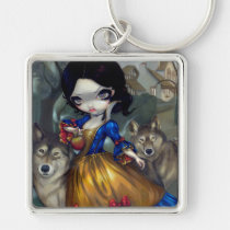 artsprojekt, loup-garou, loup, garou, snowwhite, snow, white, blanche, neige, blanche neige, rococo, cottage, hameau, versailles, fairytale, wolf, wolves, werewolf, werewolves, wolfdog, princess, roccoco, dog, dogs, france, french, vampire, vampires, doll, art, fantasy, eye, eyes, big eye, big eyed, jasmine, becket-griffith, becket, griffith, jasmine becket-griffith, Keychain with custom graphic design
