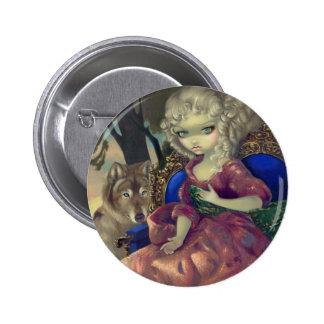 """Loup-Garou:  Botón de L'Aube"" Pin Redondo De 2 Pulgadas"