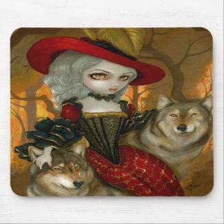 Loup-Garou: d'Automne gothic Wolf Rococo Mousepad mousepad