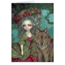 loup-garou, loup, garou, wolf, wolves, werewolf, werewolves, dog, dogs, france, french, vampire, vampires, rococo, hat, doll, art, fantasy, eye, eyes, big eye, big eyed, jasmine, becket-griffith, becket, griffith, jasmine becket-griffith, jasmin, strangeling, artist, goth, gothic, fairy, gothic fairy, faery, fairies, faerie, fairie, lowbrow, Card with custom graphic design