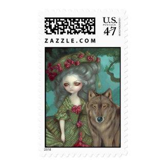 Loup-Garou La Foret Postage Stamp