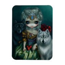loup-garou, loup, garou, tarot, high priestess, werewolf, werewolves, princess, goddess, vampire, artsprojekt, 78 tarot, artist, seventy-eight, high, priestess, black wolf, white wolf, rococo, wolf, wolves, dog, wolfdog, moon, triple moon, diana, pomegranate, dress, dogs, france, french, vampires, doll, art, fantasy, eye, eyes, big eye, big eyed, jasmine, [[missing key: type_fuji_fleximagne]] com design gráfico personalizado