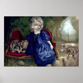 Loup-Garou La Tristesse Art Print gothic wolf