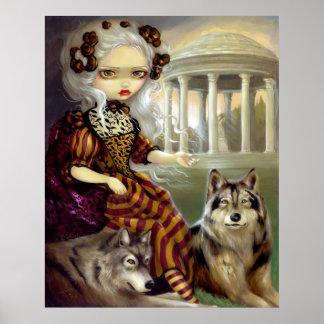 Loup-Garou Le Temple ART PRINT rococo wolf gothic
