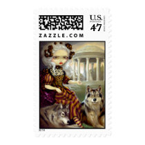 artsprojekt, loup-garou, loup, garou, temple, temple of love, versailles, richard, mique, marie, antoinette, marie antoinette, versaille, petit, trianon, garden, france, rococo, wolf, wolves, werewolf, werewolves, wolfdog, princess, roccoco, dog, dogs, french, vampire, vampires, doll, art, fantasy, eye, eyes, big eye, big eyed, jasmine, becket-griffith, becket, Stamp with custom graphic design