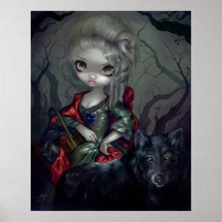 Loup-Garou: Lobo de la IMPRESIÓN del ARTE del colo Póster