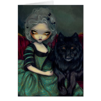 """""""Loup-Garou: Noir"""" Greeting Card"""