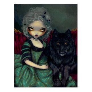 """""""Loup-Garou: Noir"""" Postcard"""