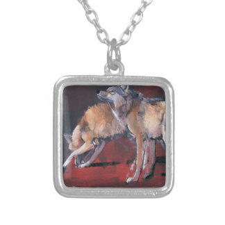 Loups 2001 silver plated necklace