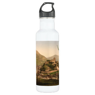 Lourdes City and Castle, Pyrenees, France Stainless Steel Water Bottle