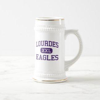 Lourdes - Eagles - altos - Rochester Minnesota Jarra De Cerveza