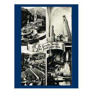 Lourdes, Early Multiview 1910 Postcard