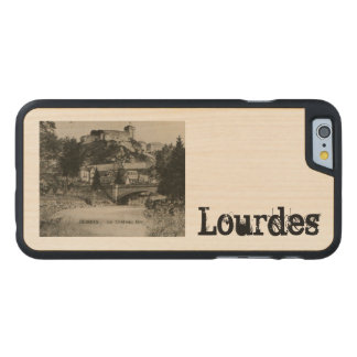 Lourdes Fort Chateau France postcard Carved Maple iPhone 6 Case