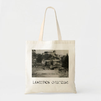 Lourdes Fort Chateau France postcard Tote Bag