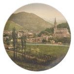Lourdes I, los Pirineos, Francia Platos De Comidas