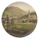 Lourdes I, Pyrenees, France Plate