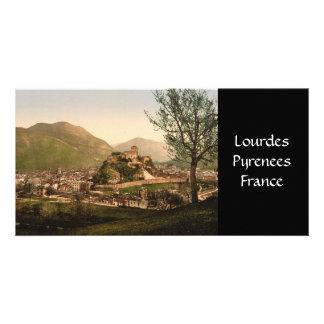 Lourdes, Pyrenees - City and Castle Photo Card