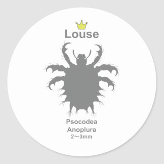 Louse g5 classic round sticker