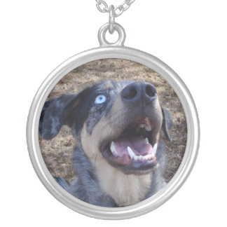 Lousiana Catahoula Leopard Dog Silver Plated Necklace